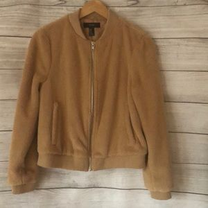 Forever 21 Teddy Bomber Jacket Size Medium NWOT